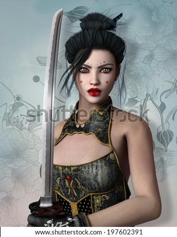 Fantasy warrior - stock photo
