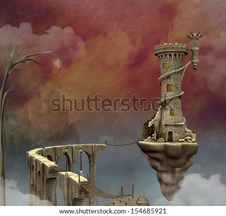 Fantasy world - stock photo