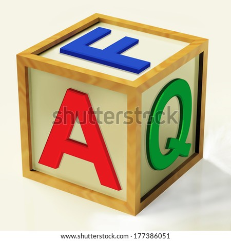 FAQ Block Meaning Questions Inquiries And Answers - stock photo