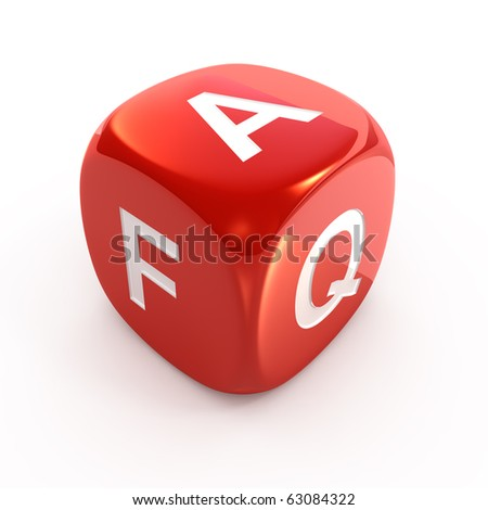 FAQ dice - stock photo