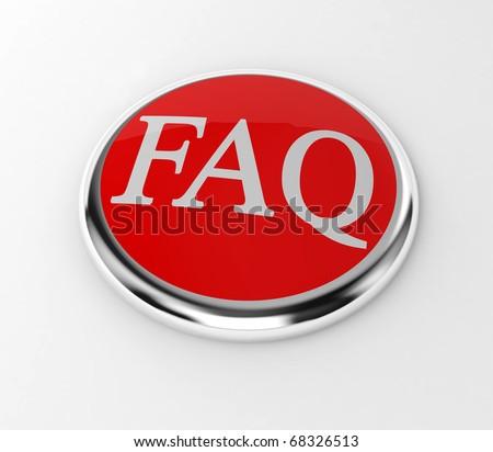 faq internet red button - stock photo