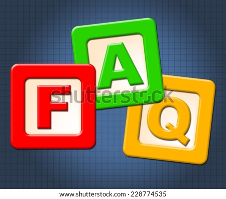 Faq Kids Blocks Representing Answers Helped And Counselling - stock photo