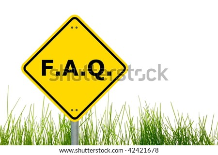 faq or frequently asked question showing internet concept - stock photo