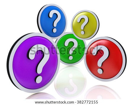 faq or question marks in the design of the information related to the Internet - stock photo
