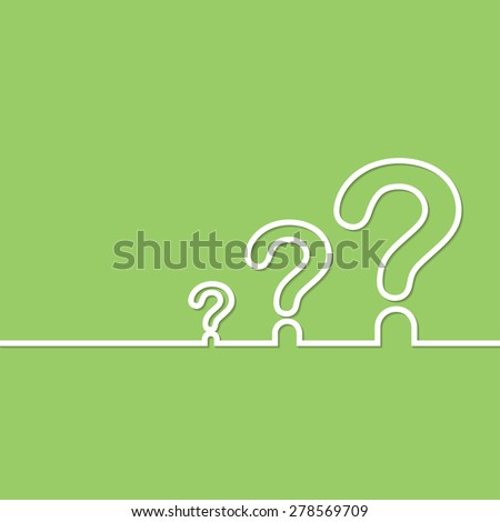 FAQ sign. Question icon. Help symbol. on green background. illustration. - stock photo
