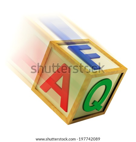 FAQ Wooden Block Meaning Questions Inquiries And Answers - stock photo