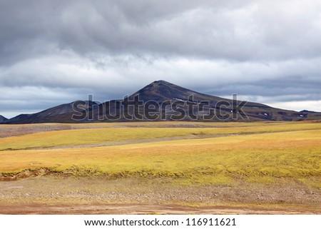 Far east, Russia, Kamchatka, mountain landscape - stock photo