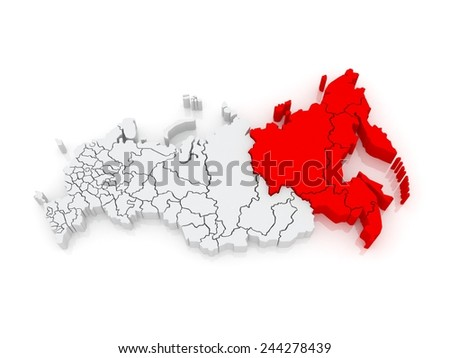 Far Eastern Federal District. Russian Federation. Russia - stock photo