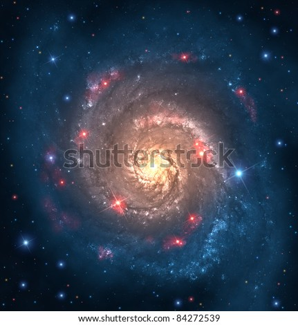 far galaxy - stock photo