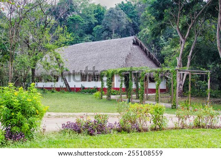 Farm accomodation, Guatemala, Central America - stock photo