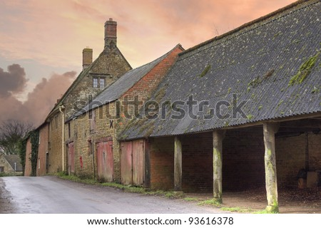 Farm buildings, England