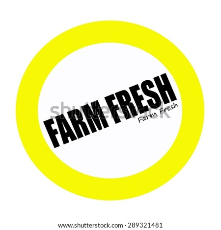 FARM FRESH back stamp text on white