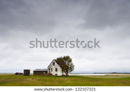 Farm house - stock photo