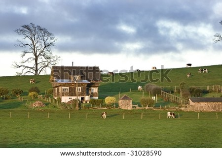 farm house - stock photo