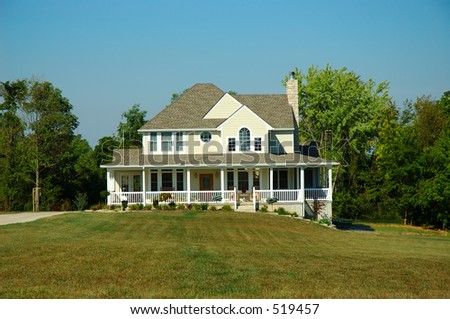 Farm House in Late Summer - stock photo