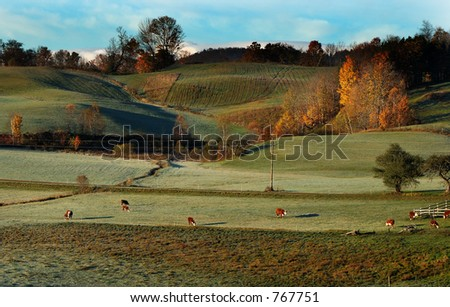 Farm in the Hills - stock photo