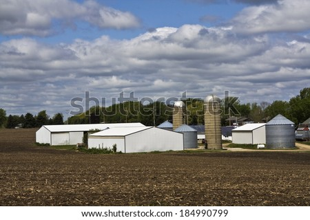 Farm in Wisconsin - Madison area - stock photo