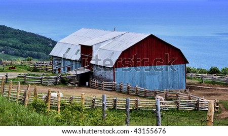 Farm on the top of the Mountain