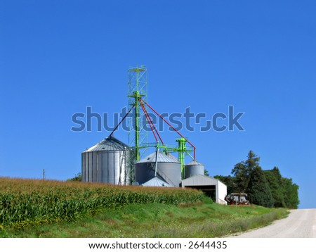Farm operation in the Midwest - stock photo