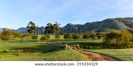 Farm scene near Stanford in South Africa - stock photo