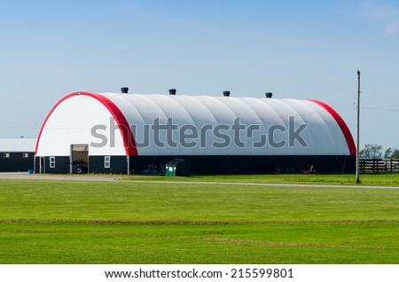 Farm storage building - stock photo