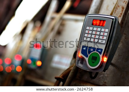 Farm technology - Automated milking controller - stock photo