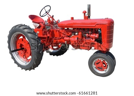 farm tractor rural georgia usa - stock photo
