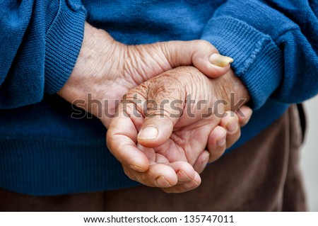 Farmer's Hands of old man who worked hard in his life