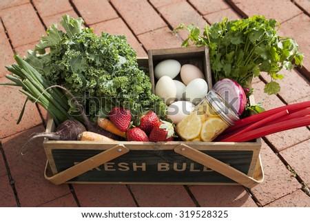 Farmer's Market Bounty - stock photo