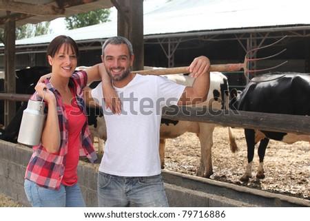 Farmers - stock photo