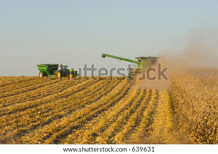 farmers in the field - stock photo