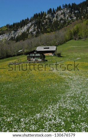 Farmhouse at Engelberg on the Swiss alps