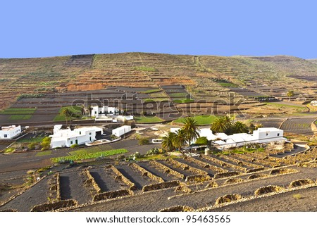 farmhouse in rural hilly area in Lanzarote