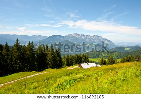 Farmhouse in the Bavarian Alps, Germany