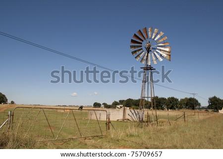 Farming Windmill - stock photo