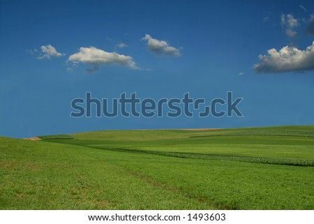 Farmland Hills - 11 - stock photo