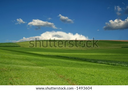 Farmland Hills - 12 - stock photo