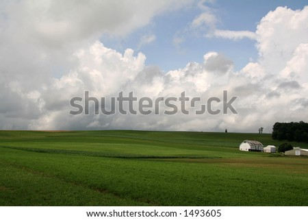 Farmland Hills - 13 - stock photo