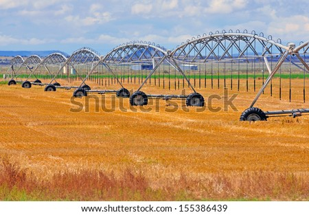 Farmland in America - stock photo