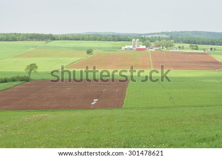 Farmland in the Spring - stock photo