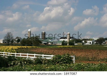 farms and farmland - stock photo