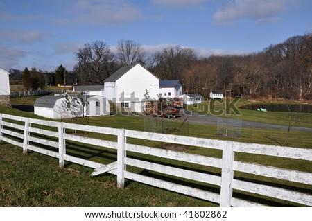 White Split Rail Fence