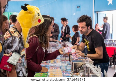 FARO, PORTUGAL - August 22: Manga & Comic Event, gathers many fans of these genres, including anime shows, cosplayers, gamers, among several other stuff.