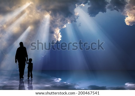 Farther & Child - The Father's love - stock photo