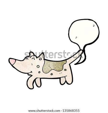 farting dog cartoon - stock photo