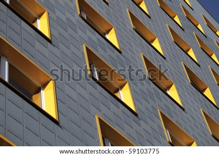 Fasade of modern building - stock photo