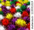 Fascinating rainbow colored decorative balls - stock photo