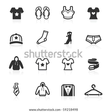 Fashion and apparel  icons - minimo series - stock photo