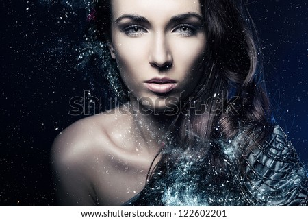 Fashion art portrait .Beauty Girl.Woman - stock photo