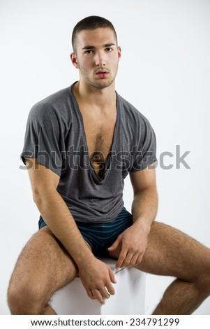 Fashion athlete men - stock photo